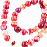 15 Inch Gemstone Red Agate 12mm Round Beads